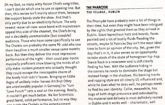 Hotpress Magazine Kaiser Chiefs live review