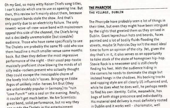 Hotpress Magazine Kaiser Chiefs live review