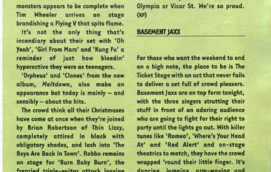 Hotpress Magazine Oxegen Festival live review