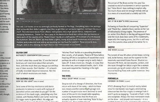 Hotpress Magazine singles reviews