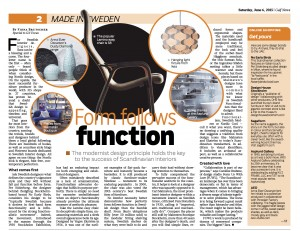 Gulf News story on Swedish design