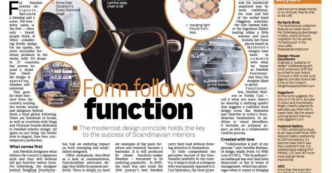 Gulf News story  on Swedish design