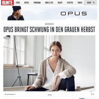 OPUS Fashion advertorial