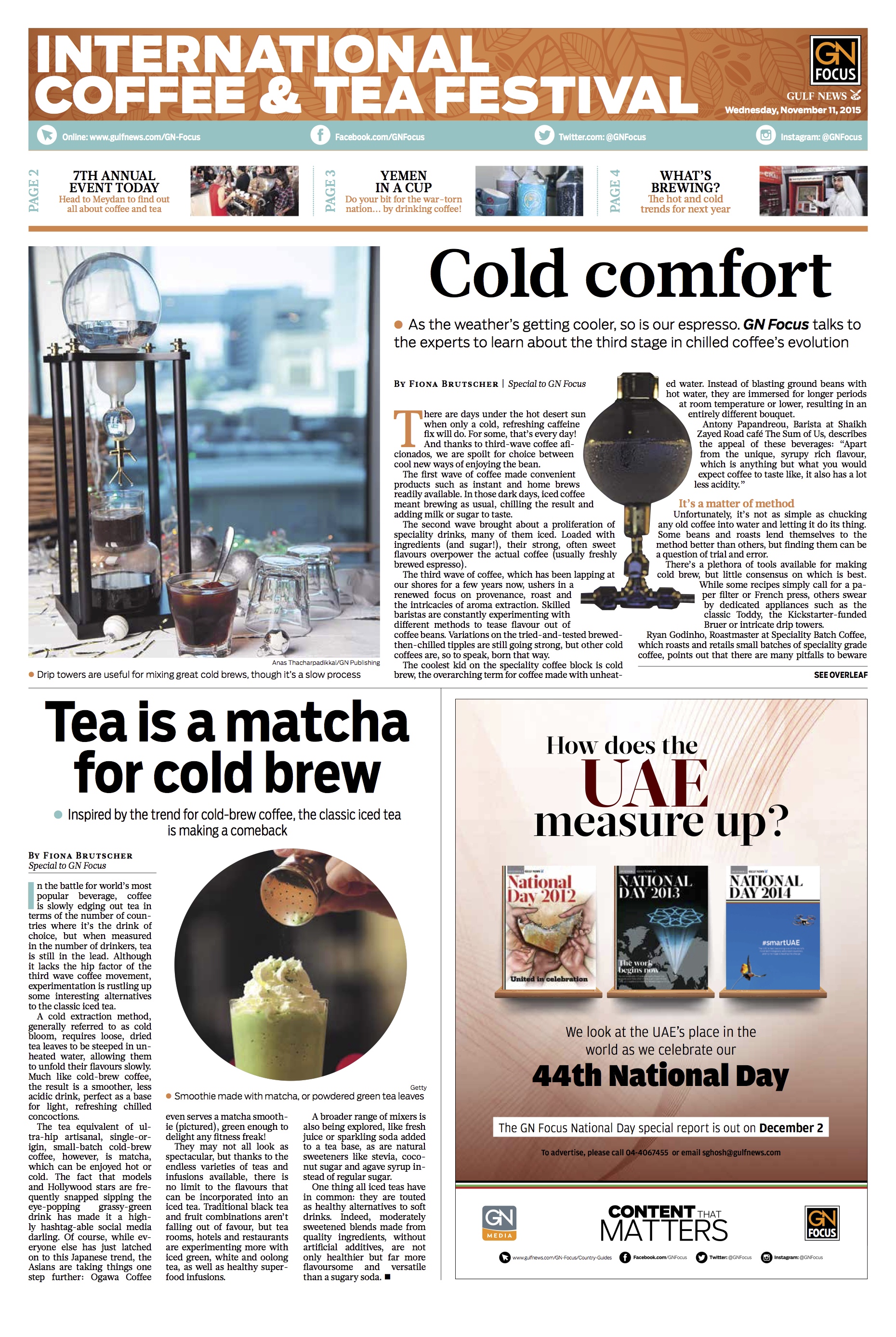 Gulf News | Fiona Brutscher