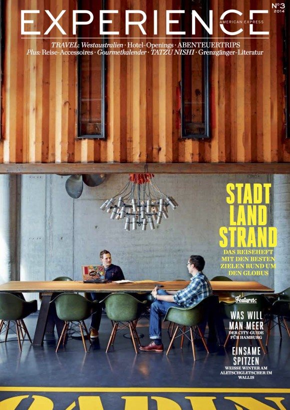 American Express EXPERIENCE Magazine, cover