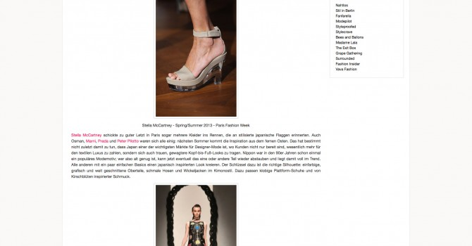 Fashion Week Recap Part 3: Designer-Trends Sommer '13