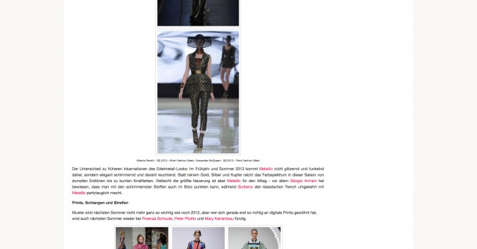 Fashion Week Recap Part 5: Designer-Trends Sommer '13