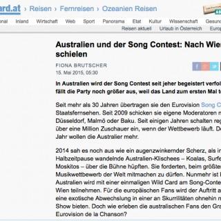 Australien und der Song Contest: Nach Wien schielen derStandard.at
