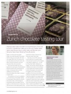 Zurich Chocolate Tasting, Oryx Magazine, by Fiona Brutscher