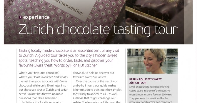Zurich Chocolate Tasting, Oryx Magazine, by Fiona Brutscher